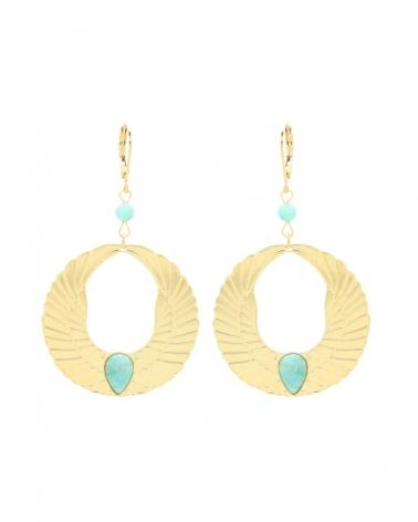 Boucles d'oreilles Olympe en Amazonite