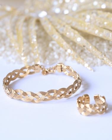 Bracelet et bague Tressées