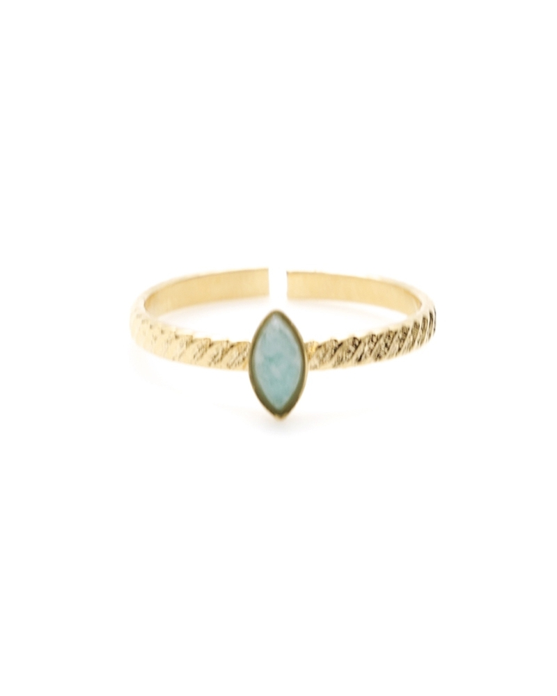 Bague Fine Honolulu en Amazonite