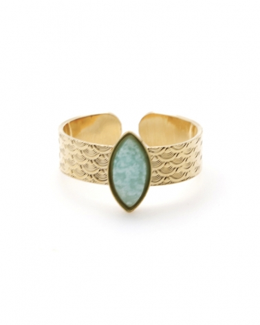 Bague Honolulu en Amazonite