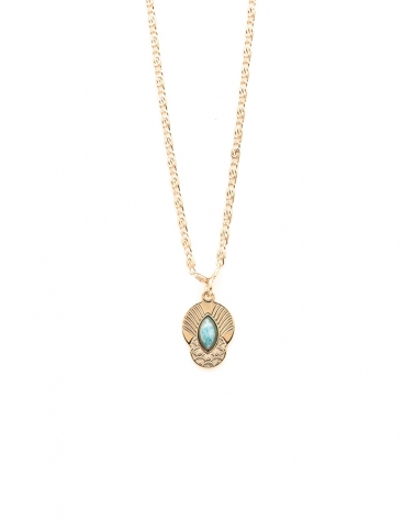 Petit collier Honolulu en Amazonite