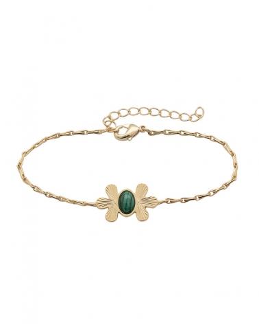 Waikiki - Bracelet Chaîne en Malachite