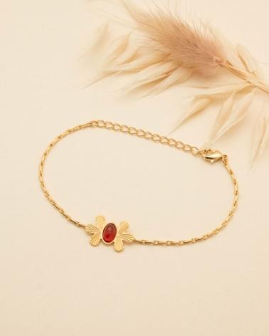 Waikiki - Bracelet Chaîne en Cornaline