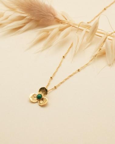 Petit Collier Primavera - Malachite