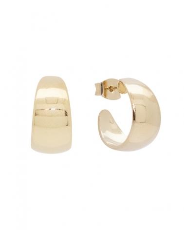 Boucles d'oreilles demi-créoles épaisses dorées