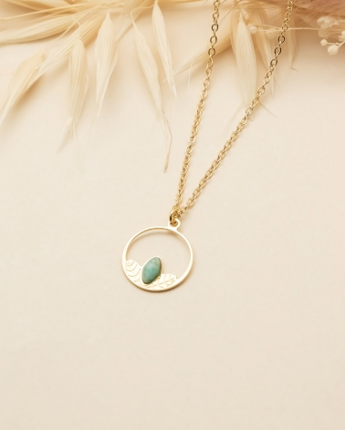 Collier Petit Cercle Alice - Amazonite