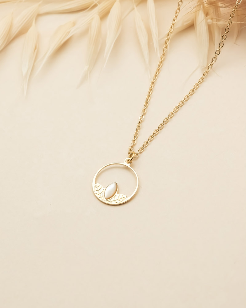 Collier Petit Cercle Alice - Nacre