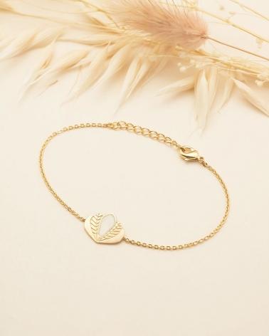 Bracelet chaine Chloé - Ivoire