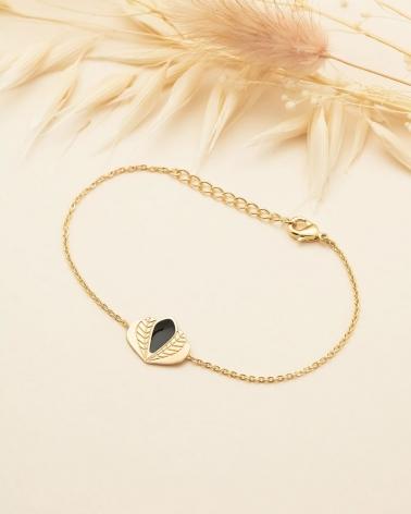 Bracelet chaine Chloé - Noir