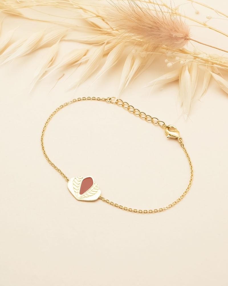 Bracelet chaine Chloé - Terracotta