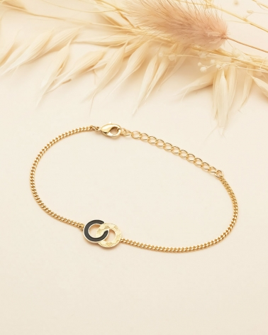 Bracelet Chaîne Isadora - Noir