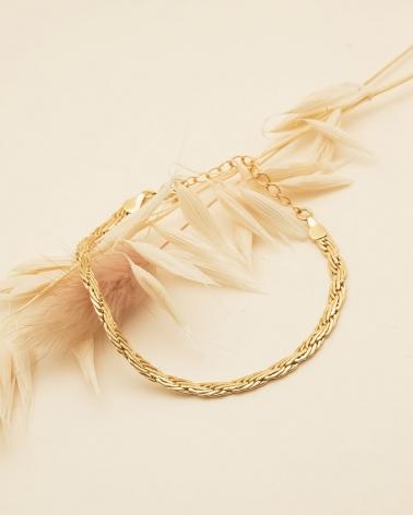 Bracelet chaine torsadé et laminé - Rhéa