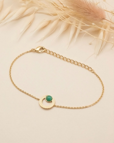 Bracelet chaîne Katniss en Amazonite