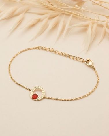 Bracelet chaîne Katniss en Cornaline