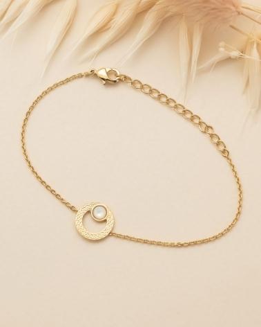 Bracelet chaîne Katniss en Nacre
