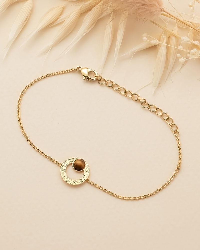Bracelet chaîne Katniss en Oeil de Tigre