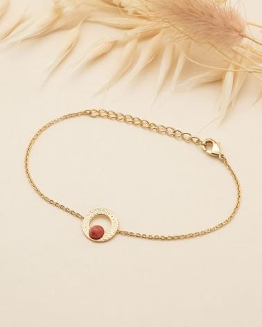 Bracelet chaîne Katniss en Rhodonite