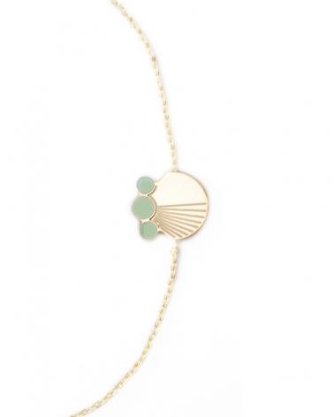 Bracelet chaine Zoom Vert Eucalyptus