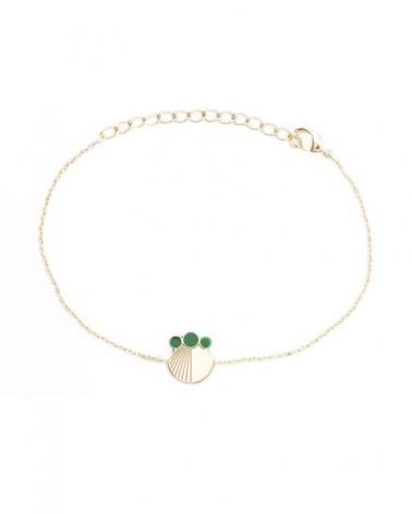 Bracelet chaine Emeraude