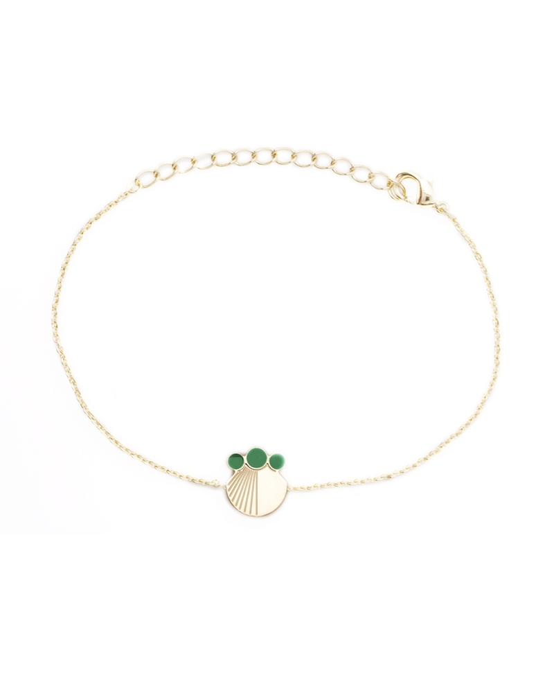 Bracelet chaine Vert Emeraude