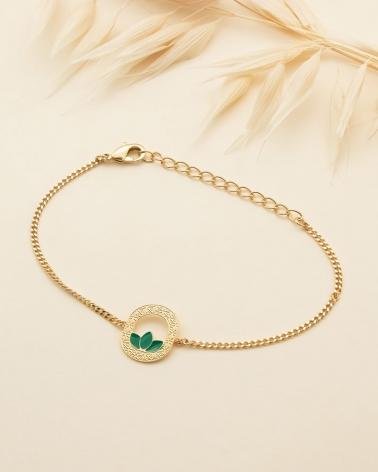Bracelet chaîne Madison - Vert Emeraude