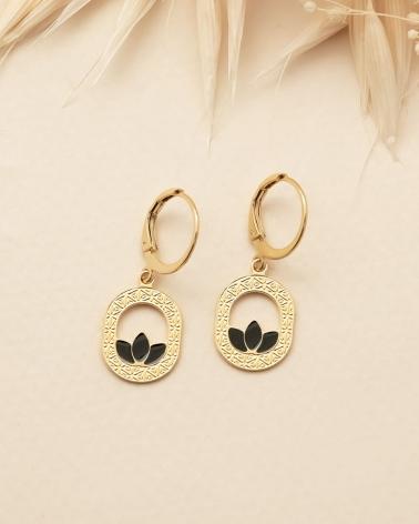 Mini pendantes d'oreilles Madison - Noir