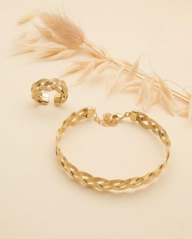 Bracelet et bague - Tressé