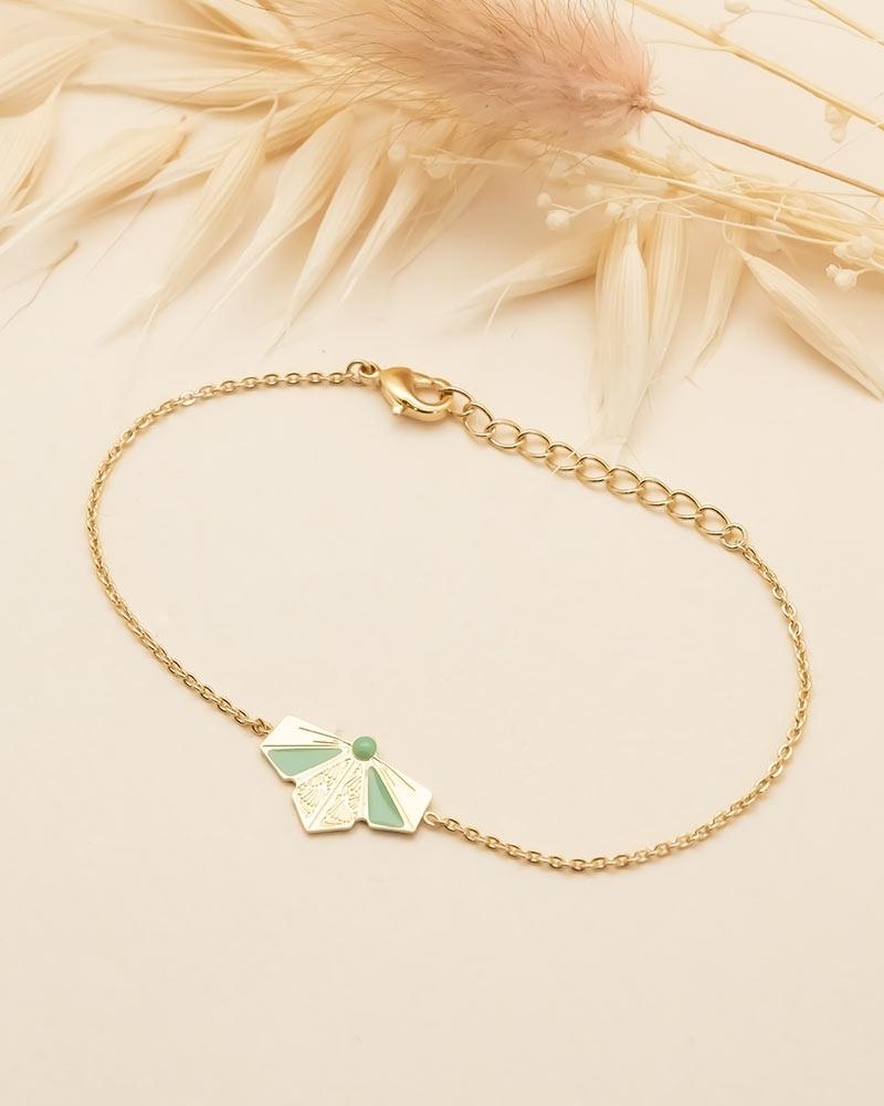Bracelet chaîne Oslo - Vert Eucalyptus
