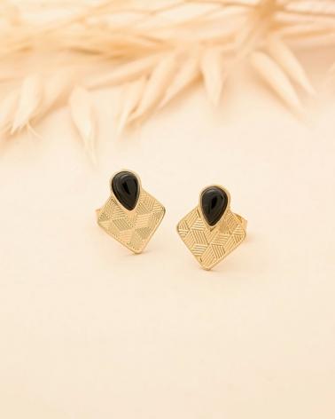 Petites puces Sienna - Agate Noire