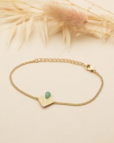 Bracelet chaîne Sienna - Amazonite