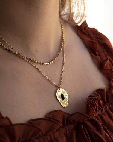 Grand Collier Honolulu - Agate Noire