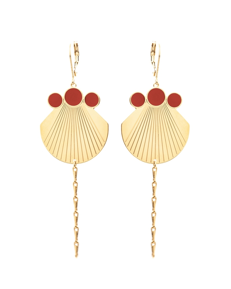Boucles Pampilles Jack Email Terracotta