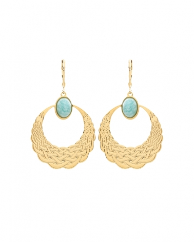 Maxi Boucles Katniss - Amazonite