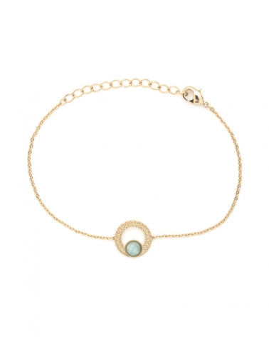 Bracelet chaine Katniss en amazonite