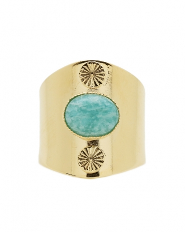 Bague double Motif Amazonite