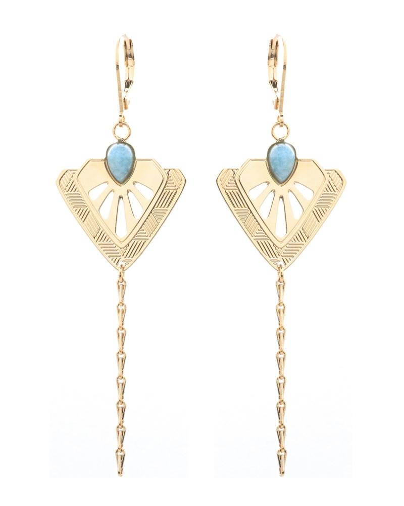 Boucles d'oreilles pendantes Tamara Amazonite