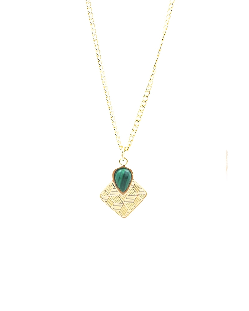 Collier - Sienna Malachite