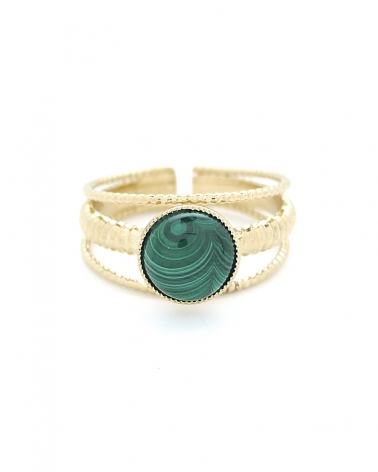 Bague Medium - Kali Malachite