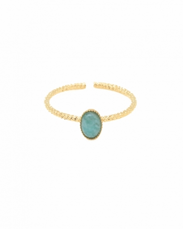 Bague fine Alice en Amazonite