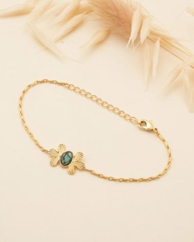 Waikiki - Bracelet Chaîne en Jaspe Africain