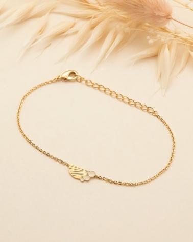 Bracelet chaine Jack Demi Coquillage - Ivoire
