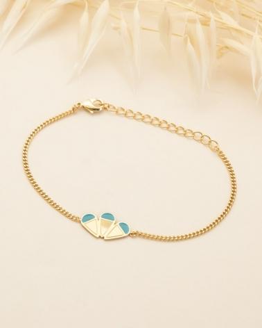 Bracelet Chaîne Éole - Bleu Lagon