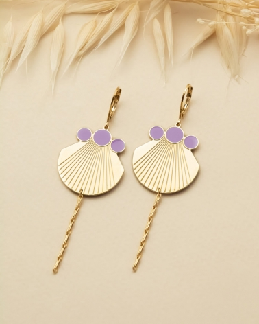 Boucles Pampilles Jack - Email -Lilas