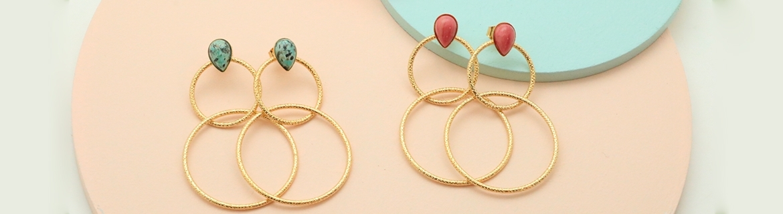 Boucles d'oreilles pendantes - Aurélie Joliff - Bijoux
